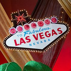 Our Welcome to Las Vegas Sign has the look of the iconic sign welcoming you to Sin City. Each Our Welcome to Las Vegas Sign prop features string lights.