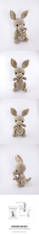 Kangaroo And Baby Amigurumi Pattern