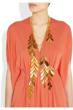 Hervé van der straeten leaf necklace --  http://www.net-a-porter.com/Shop/Designers/Herve_Van_Der_Straeten/All