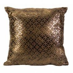 """Geometric throw pillow.       Product: Pillow      Construction Material:  Polyester       Color: Gold      Features:  Insert included    Dimensions: 18"""" x 18"""""""