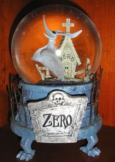 The Nightmare Before Christmas Zero Musical Snowglobe - RARE!