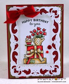 Inspired to Stamp: Happy Birthday Power Poppy!