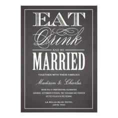 BE MARRIED CHALKBOARD | WEDDING INVITATION