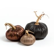 NEW Leather Pumpkin Warm Stone Trio. Shop now at www.LoveFeastShop.com