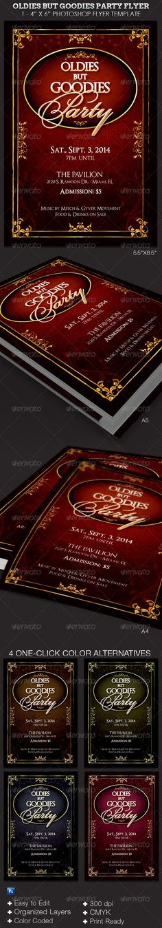 Oldies but Goodies Party Flyer Template — Photoshop PSD #flyer #luncheon • Available here → https://graphicriver.net/item/oldies-but-goodies-party-flyer-template-/6573821?ref=pxcr