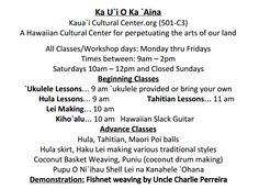Kauai Cultural Center - hula and ukulele lessons