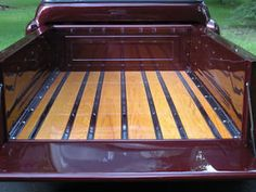 New chevy truck bed ideas New Chevy Truck, 57 Chevy Trucks, Ford Pickup Trucks, Kenworth Trucks, Chevy Stepside, Chevy Pickups, Fire Truck Craft, Truck Bed Date, Wooden Truck