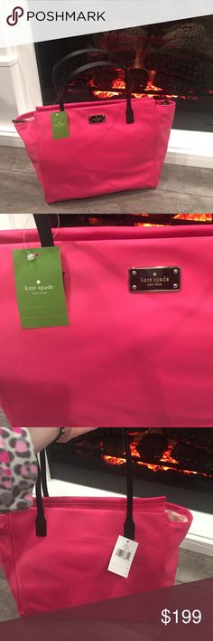‼️OPEN TO OFFERS!‼️ Brand new! Kate Spade Tote! Large size, Nylon great for work!Super cute! kate spade Bags Totes