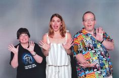 """Us with Billie Piper from """"Doctor Who"""" and """"Penny Dreadful"""". Motor City Comic Con 2017."""