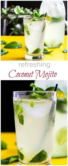 Try this refreshing coconut mojito this summer. This classic mojito with subtle coconut flavor is here for you to sip on all summer long.