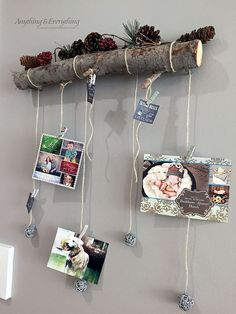 Hometalk :: Tree Branch Turned Holiday Card Display! SO much prettier than taping them all around our doorway!!