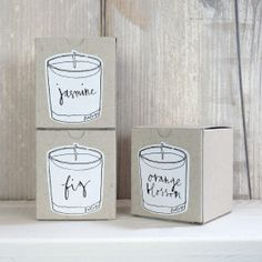 candles with scant