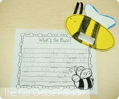 Bee Writing Activity from The First Grade Parade