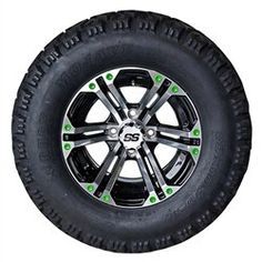 Golf Carts Ideas   12 Golf Cart Wheel w LIME GREEN Inserts  RHOX 23x10512 Mojave 4Ply Tire Combo * Check out the image by visiting the link. Note:It is Affiliate Link to Amazon. #BrowseOurUltimateGolfCarts