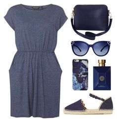 """Blue Life"" by anadlangel ❤ liked on Polyvore featuring Dorothy Perkins, Versace, Forever 21, Tory Burch, Humble Chic and Castañer"