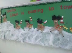 The rest of our reindeer/elf bulletin board