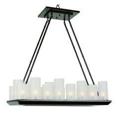 "View the Trans Globe Lighting 9958 32"" Width 18 Light Linear Pillar Candle Chandelier at LightingDirect.com."