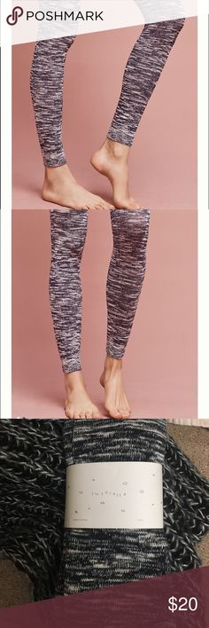 *New* Anthropologie Footless Leggings These are both warm and adorable! Wear them with a cardigan and boots and you have the perfect winter outfit! These are much thicker than your basic pair of tights, and oh so soft. ♥️ It is a dark navy/white color but in my opinion they can easily pass as black and white! Anthropologie Pants Leggings