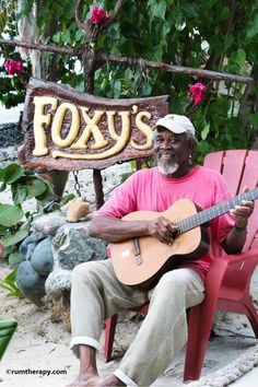 Love this place.... One day I will be back . This is Foxy and his dog Taboo was there too!Jost Van Dyke, BVI