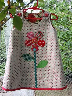 Girls dress pdf sewing pattern Petal Reversible Dress, sizes 6 - 9 months to 8…