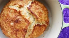 Faster No Knead Bread - So Easy ANYONE can make crusty artisan bread. 450 oven -- bake in dutch oven with lid Artisan Bread Recipes, Baking Recipes, Oven Recipes, Recipies, My Favorite Food, Favorite Recipes, Dutch Oven Bread, Muffins, No Knead Bread