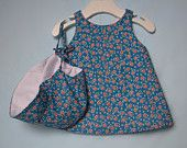 Fully-lined, cross-back dress with closure in back with matching sun bonnet! This dress is a simple and sweet way to dress your baby in Tie Headband, Girl Closet, Heirloom Sewing, Our Girl, Dress Backs, Vintage Prints, Jumper, Trending Outfits, Crochet