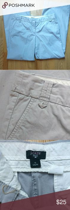 J. Crew City Fit Stretch Pants J. Crew city fit stretch pants. In excellent used condition. Gray in color. 98% cotton 2% spandex  Cross listed on eBay. Don't wait for price drops or you may miss out J. Crew Pants Wide Leg