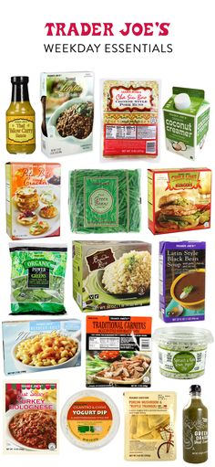 best 17 products to buy at Trader Joe's that will totally change your work week. (Bet you haven't heard of a lot of them!)The best 17 products to buy at Trader Joe's that will totally change your work week. (Bet you haven't heard of a lot of them! Trader Joe's, Trader Joes Food, Best Of Trader Joes, Best Trader Joes Products, Trader Joes Vegan, Whole 30 Trader Joes, Whole Food Recipes, Healthy Recipes, Dinner Recipes