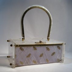 Vintage 1950s Toro Lucite Purse Silver Gold by unionmadebride, $125.00