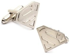 "Superman Cufflinks : Silver Superman Logo DC Comics. $38.88. In stock and ready to ship today! Super fast shipping right to your door!. Comes packaged in a Limited Edition Collectors Storage Box!. Silver Edition Superman Cufflinks Bullet back closure. An officially licensed DC Comics product.. Approximately 3/4"" x 3/4"" Nickel Plated"