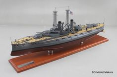 """32.4"""" (1/192 scale) US Navy Battleship – USS North Dakota (BB-29). SD Model Makers offers made-to-order museum quality replica ship models of ANY Naval Warship in ANY size or scale, from ANY country and ANY service era. www.sdmodelmakers.com"""