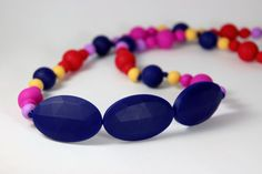 Silicone Nursing Teething Necklace BPA Free  by MyNaturalBabyAU, $28.00