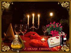 Urodziny i imieniny: Gify urodzinowe Birthday Candles, Happy Birthday, Humor, Rose, Beautiful, Flowers, Happy Brithday, Pink, Urari La Multi Ani