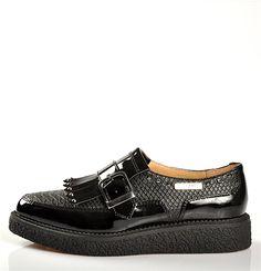 Chaussures FEMME - DERBYS NOIR - CREEPERS - Chaussures Desmazieres