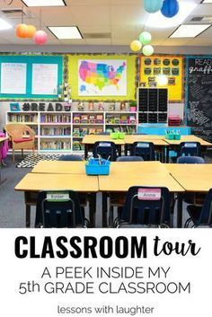 Classroom Tour: A Peek Inside my Grade Classroom - Lessons With Laughter Teaching 5th Grade, 5th Grade Teachers, 5th Grade Classroom, Middle School Classroom, Future Classroom, Elementary Classroom Themes, Classroom Teacher, Classroom Behavior, Classroom Posters