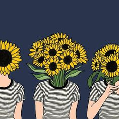 I believe all of us humans are like sunflowers. That inherently, we will always face towards goodness like sunflowers face the sun. Unless, of course we rip ourselves apart from what's deep within. This illustration of mine almost went viral on tumblr (without artist credits!!!), whoop but what's really wonderful and overwhelming was that so many of y'all requested page admins to give me credits and also brought it to my notice! Thank you so much for liking and supporting my art! Lots of…