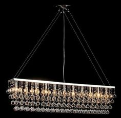 "Amazon.com : Chandelier w/ Crystal Modern ""Rain Drop"" Chandeliers Billiard Pool Table Light Lighting With Crystal Balls : Home Improvement"