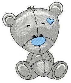 Plush bear 2 machine embroidery design. Machine embroidery design. www.embroideres.com