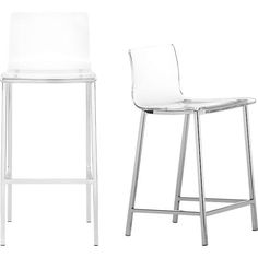 need these VaporBarstools at CB2 to disappear into the space when not in use