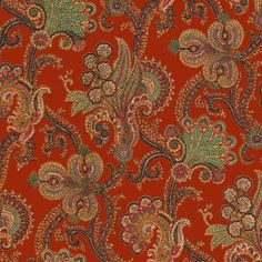 With Persian influences, the 'Palme Cashmir' print is a paisley-style design that holds timeless appeal. This intricate print comes from French wallpaper house ZUBER's archive and has been remastered by House of Hackney in an updated palette of henna-red, Bohemian Wallpaper, Paisley Wallpaper, Luxury Wallpaper, Cute Wallpaper For Phone, Red Wallpaper, Home Wallpaper, Designer Wallpaper, Pattern Wallpaper, Beautiful Wallpaper