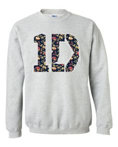 One Direction 1D Floral Crewneck Sweatshirt