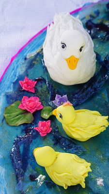 Five little Ducks went out one Day.a Birthday Cake Little Duck, Five Little, Cake Creations, Nursery Rhymes, Ducks, Going Out, Birthday Cake, Cakes, Cake Makers