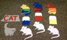 Mouse Paint.  I can make this on my cricut die cut machine.  Just cut out extra mice and cut in half on glue on bottom half to give the mix color.  Simply enough so I will add this to my color story collection