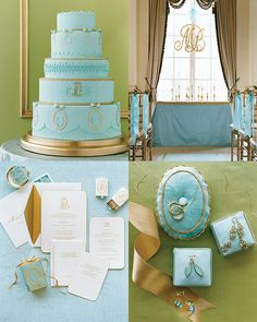 Spring And Summer Wedding Colors Aqua Gold Williamssj