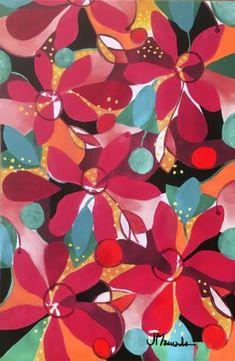 Espacial floral 2 / Acrílico sobre lienzo / 40x60 cms