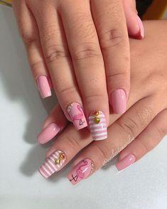 Unhas com esmaltes rosa, as melhores do ano Spring Nails, Summer Nails, Dot Nail Designs, Seasonal Nails, Jelly Nails, Japanese Nails, Pretty Nail Art, Stylish Nails, Nail Stamping