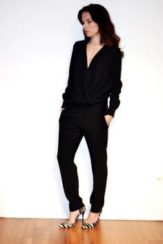 black jumpsuit Karl | Phyliss stretch-jersey jumpsuit  | NET-A-PORTER.COM