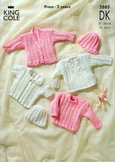 King Cole Baby Sweater, Cardigan & Hat Big Value Knitting Pattern 2885  DK | Knitting | Patterns | Minerva Crafts