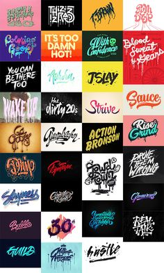 30 Custom Lettering Designs with Drips, Runs and Splatters Tattoo Name Fonts, Tattoo Lettering Fonts, Types Of Lettering, Lettering Styles, Graffiti Lettering, Typography Logo, Lettering Design, Logos, Site Instagram