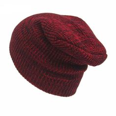 Warm Wool Knitted Toque - Red - JackClass.com